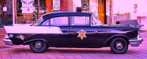 old-fashioned police car