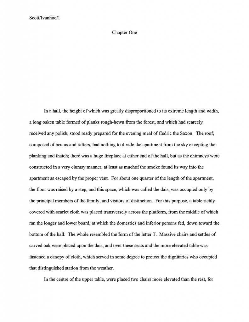 Ivanhoe first page