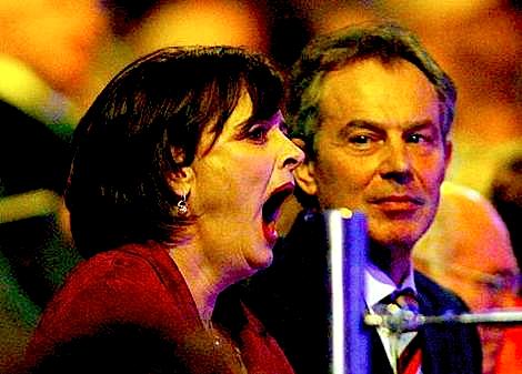 Cheri Blair yawning