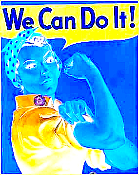 Rosie the Riveter reversed