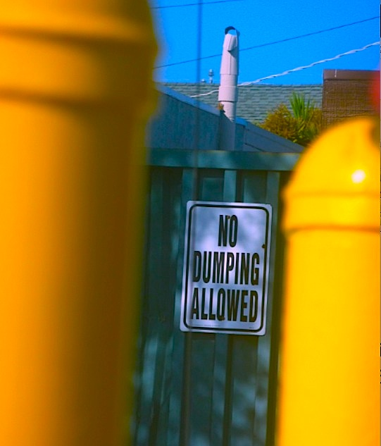 no dumping sign 2