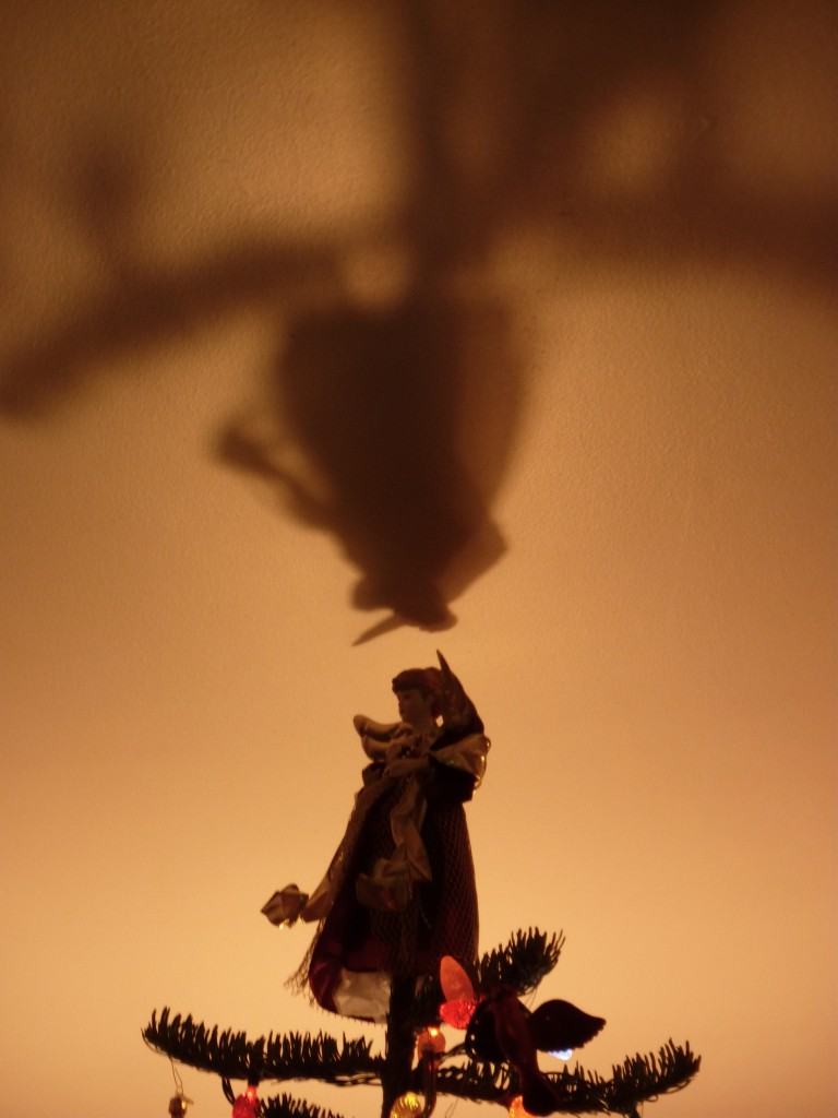 angel on top of tree