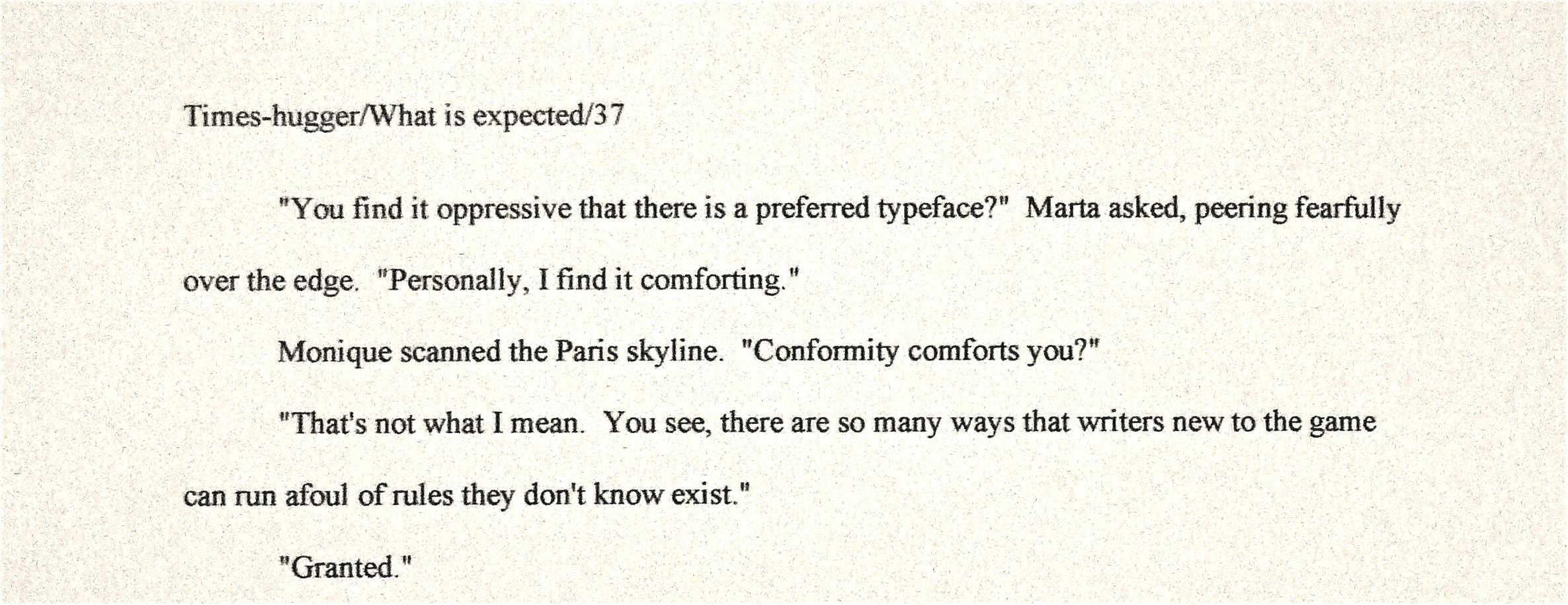 Separating essay into paragraphs